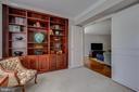 Den/Study - Custom Built-In Bookcases! - 5904 MOUNT EAGLE DR #504, ALEXANDRIA