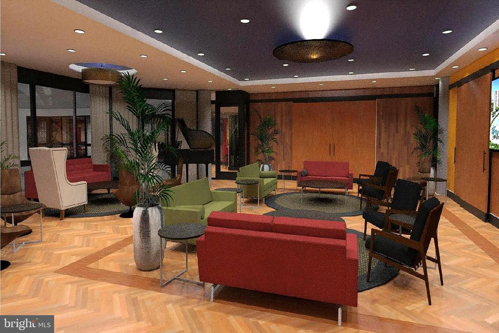 Rendering of New Community Center Lounge - 5904 MOUNT EAGLE DR #504, ALEXANDRIA