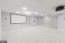 Spacious media area w/projector and screen - 43409 RIVERPOINT DR, LEESBURG
