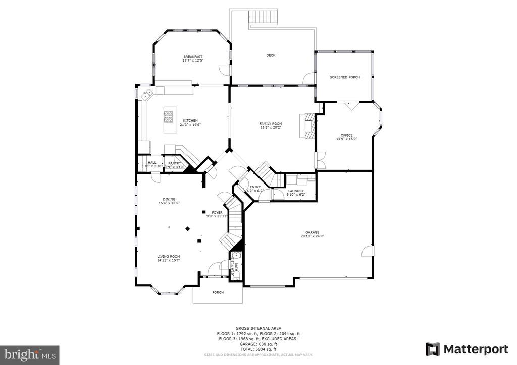 Main Level Floor Plan - 43409 RIVERPOINT DR, LEESBURG