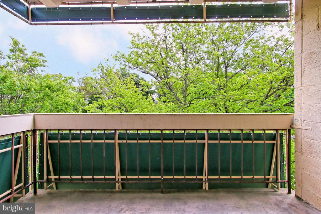 Private, covered balcony - 6137 LEESBURG PIKE #602, FALLS CHURCH