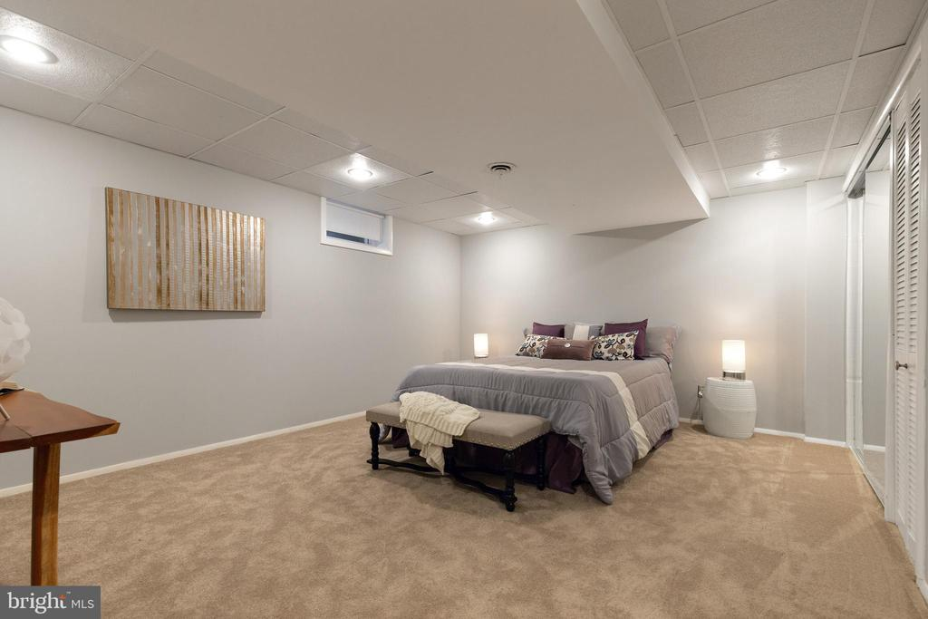 Downstairs den with brand new carpeting and paint - 7324 PINECASTLE RD, FALLS CHURCH
