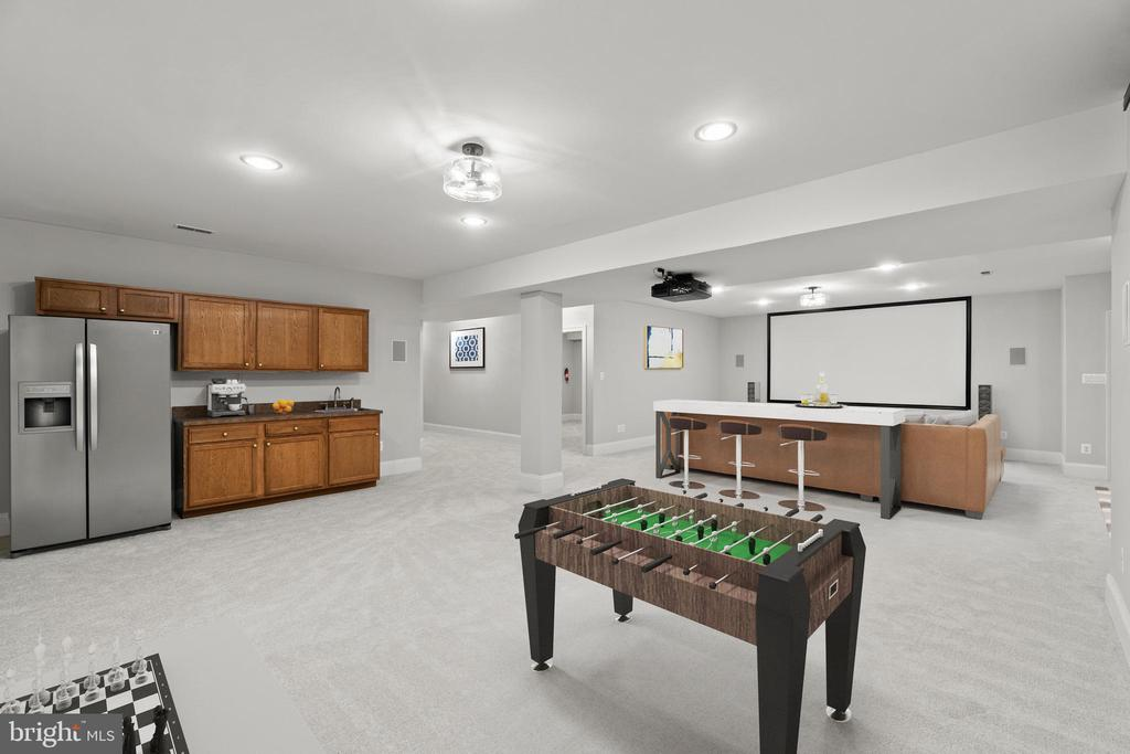 Virtually staged--entertaining perfection! - 43409 RIVERPOINT DR, LEESBURG