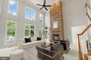 Virtually Staged Family Room - 43409 RIVERPOINT DR, LEESBURG