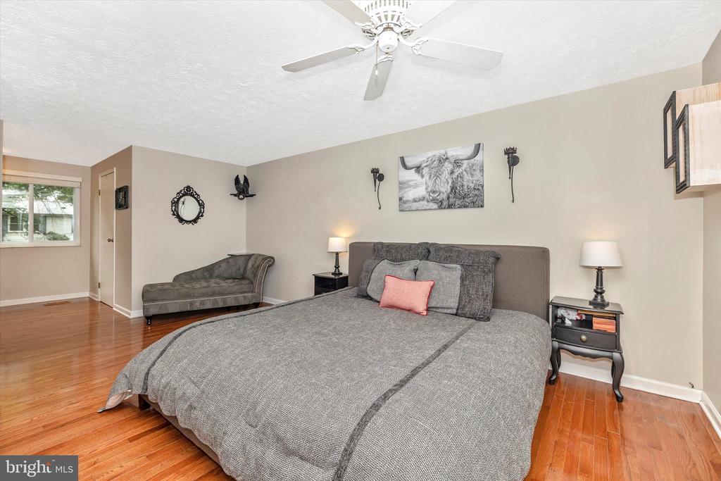 Master Bedroom with Hardwood Floors - 18312 AMBER MEADOWS CT, GAITHERSBURG