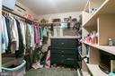 Large walk in closet in upper level MASTER SUITE - 8305 VENTNOR RD, PASADENA