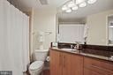 Master bath w/ granite counters - 1021 N GARFIELD ST #731, ARLINGTON