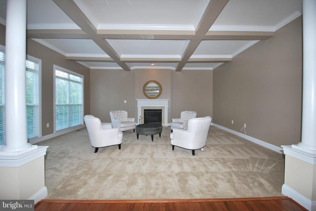 Coffered ceiling, 4ft extension and gas fireplace - 22554 FOREST RUN DR, ASHBURN