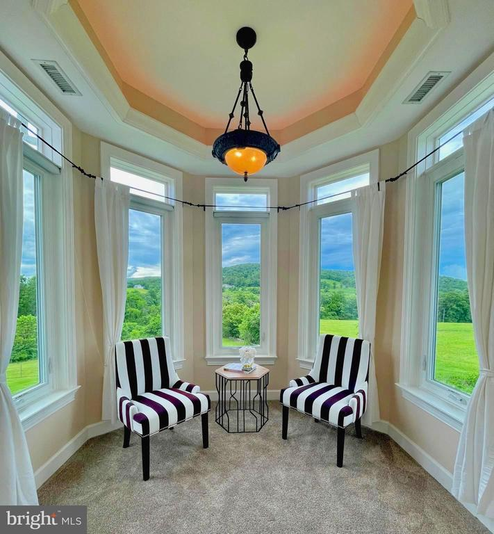 Morning room with panoramic views off of primary - 14868 CIDER MILL RD, HILLSBORO