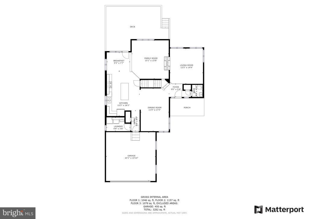 Floor Plan - Main  Level - 1306 PAVILION CLUB WAY, RESTON