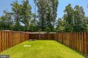 fenced yard - 42 HUNTING CREEK LN, STAFFORD