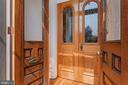 Double doors w/beautiful, unique glass & hardware - 1838 VERMONT AVE NW, WASHINGTON