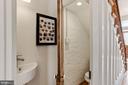 European style half bath off hallway - 1838 VERMONT AVE NW, WASHINGTON