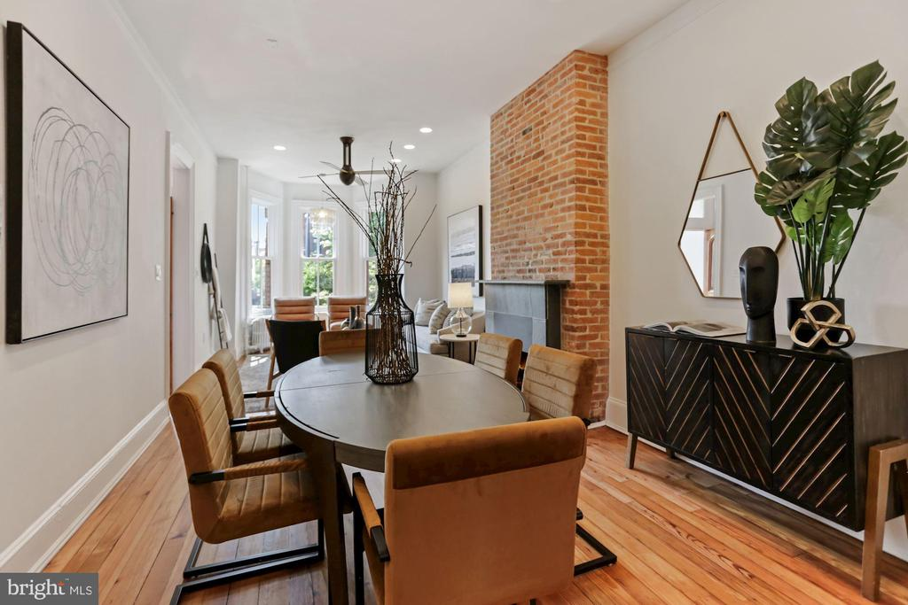Great flow from LR to DR to Kitchen - 1838 VERMONT AVE NW, WASHINGTON