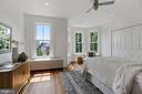 Primary bedroom wide plank heart pine floors - 1838 VERMONT AVE NW, WASHINGTON