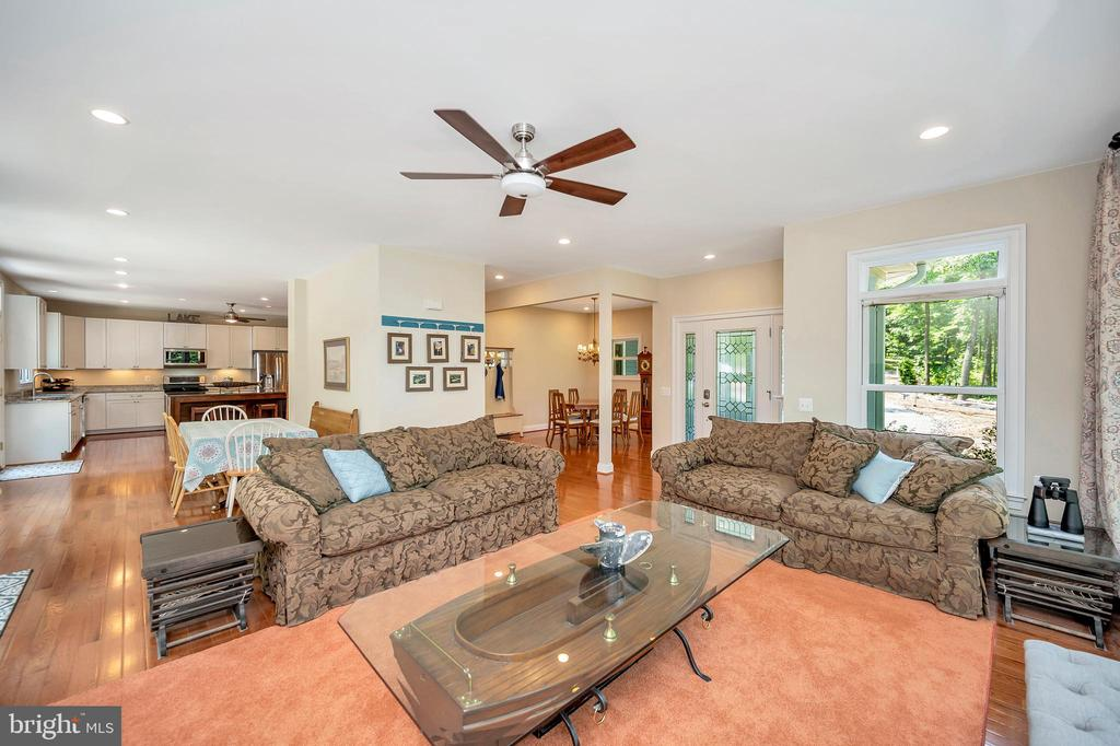 Family room view towards kitchen & dining - 108 BEACHSIDE CV, LOCUST GROVE