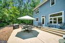 Expanded outdoor living patio & natural yard - 108 BEACHSIDE CV, LOCUST GROVE