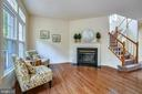 Family Room with gas fireplace & mantle - 1323 SUNDIAL DR, RESTON