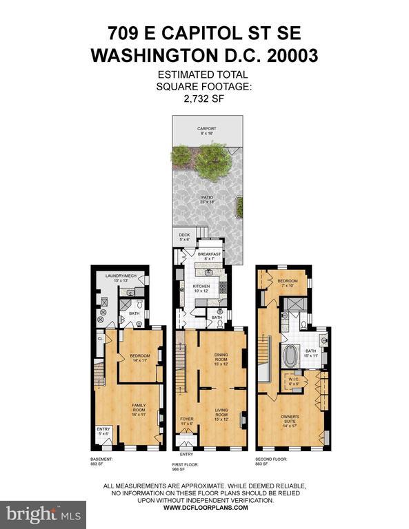 Floor Plans - 709 E CAPITOL ST SE, WASHINGTON
