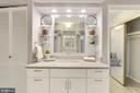 Primary bathroom with upgraded vanity - 1600 N OAK ST #624, ARLINGTON