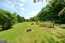 Back yard with fire pit - 410 S NURSERY AVE, PURCELLVILLE