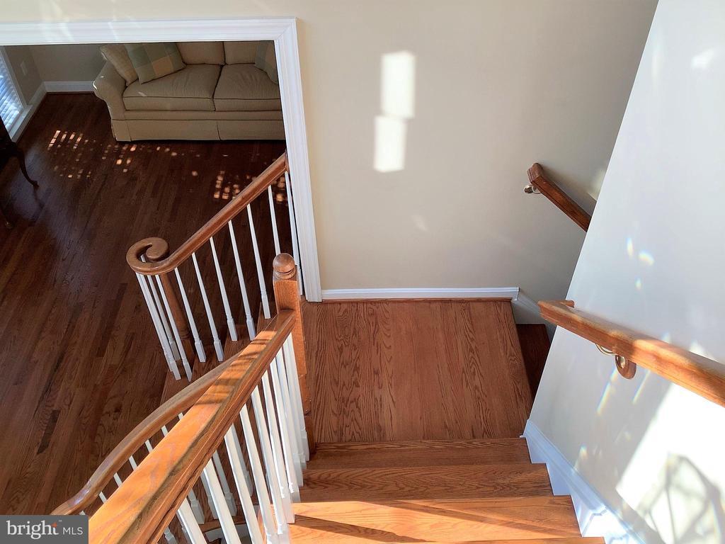 Hardwood Dual Staircase - 22554 FOREST RUN DR, ASHBURN