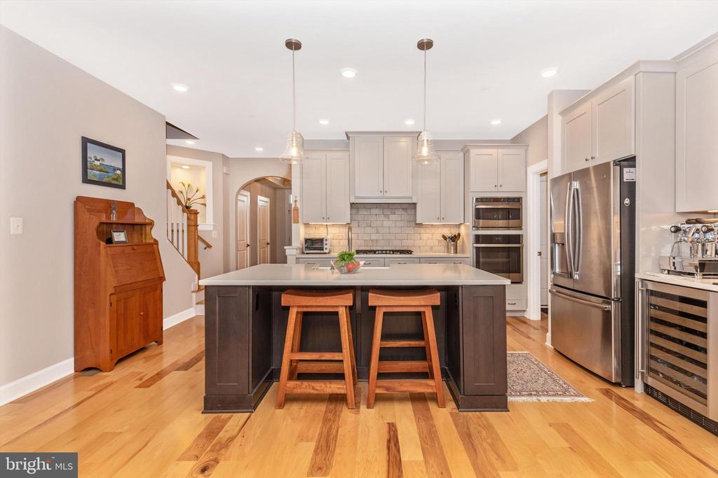 Coffee station with wine refrigerator - 3835 FULHAM RD, FREDERICK