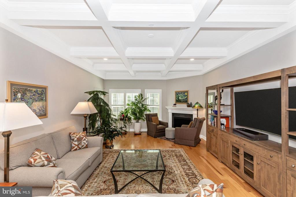 Coffered ceiling in Family Room - 3835 FULHAM RD, FREDERICK