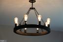 Another custom chandelier, in the dining room - 4346 BASFORD RD, FREDERICK