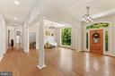 Large foyer; door features etched glass - 4346 BASFORD RD, FREDERICK
