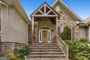Grand entrance with natural stone, timber framing - 4346 BASFORD RD, FREDERICK