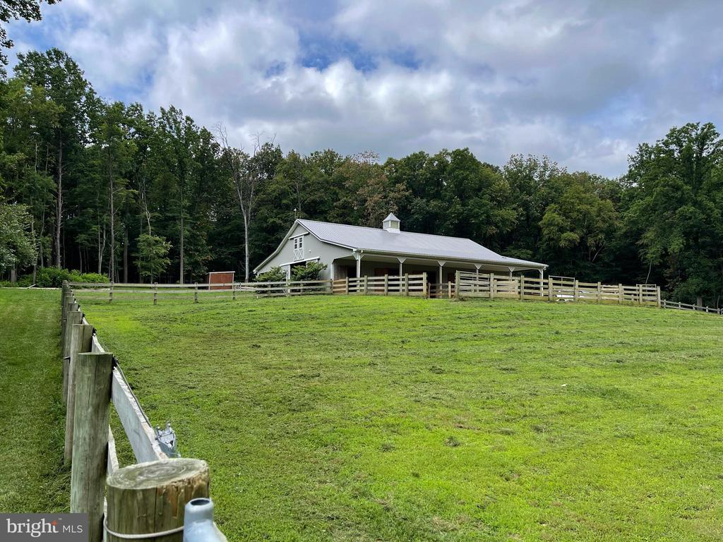 Paddocks open to a .5 acre pasture - 4346 BASFORD RD, FREDERICK