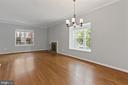 Hardwoods in living/dining area - 920 S ROLFE ST, ARLINGTON