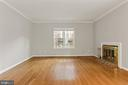 Living room area with wood burning fireplace - 920 S ROLFE ST, ARLINGTON