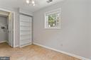 Bedroom three with large storage closet - 920 S ROLFE ST, ARLINGTON