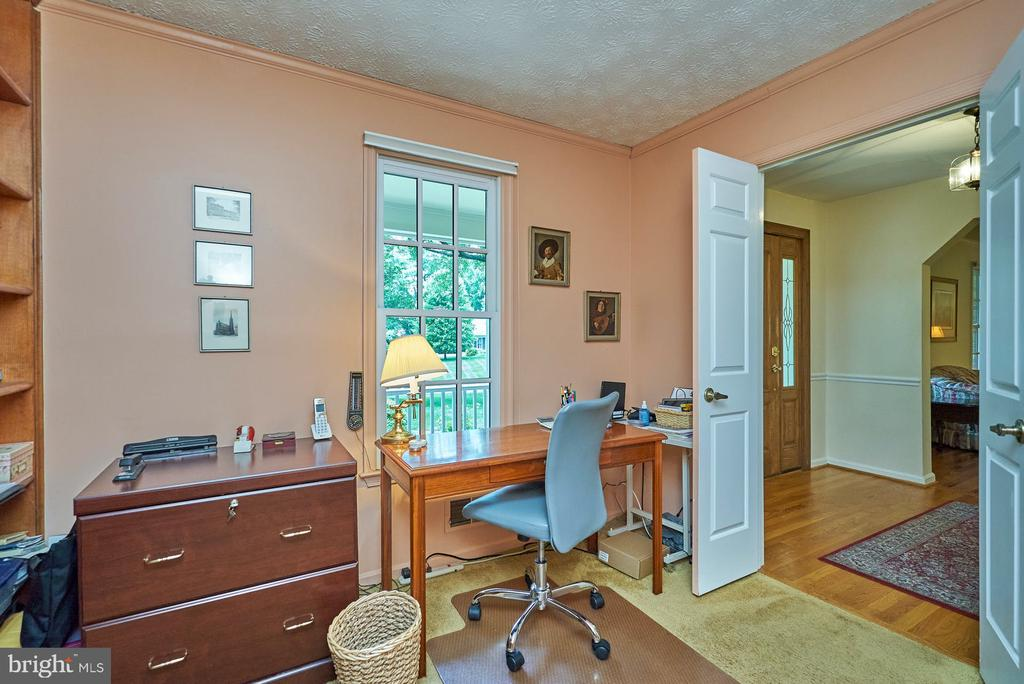Double Doors to the Office - 11902 HOLLY SPRING DR, GREAT FALLS