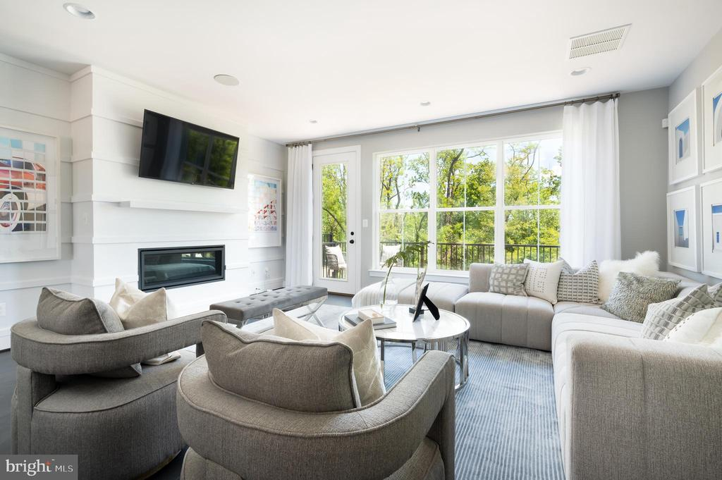 Great Room  - photo shown is of similar home - 42362 ZENITH TER, ASHBURN
