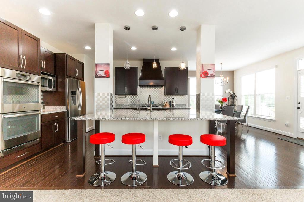 Gourmet kitchen features stainless steel appliance - 23384 MORNING WALK DR, BRAMBLETON