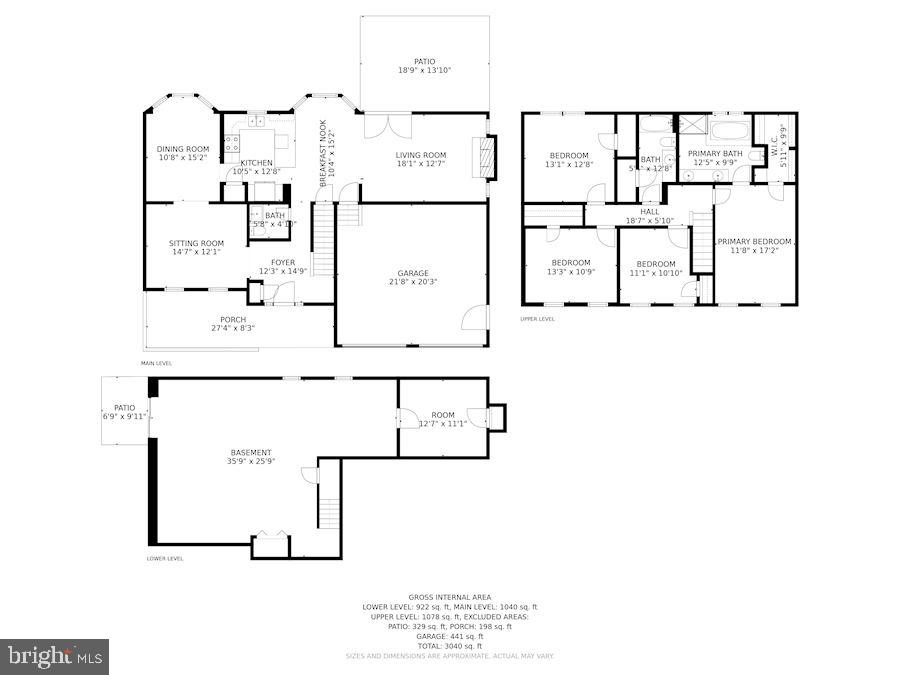 Floor Plan - All - 205 SAIL CV, STAFFORD