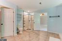 Sleek shower and cool ceramic tile flooring. - 12113 SAWHILL BLVD, SPOTSYLVANIA