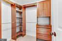 Walk-in closet with custom organizer & shelving! - 12113 SAWHILL BLVD, SPOTSYLVANIA