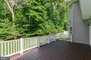 Private, spacious deck  overlooks trees. - 12113 SAWHILL BLVD, SPOTSYLVANIA