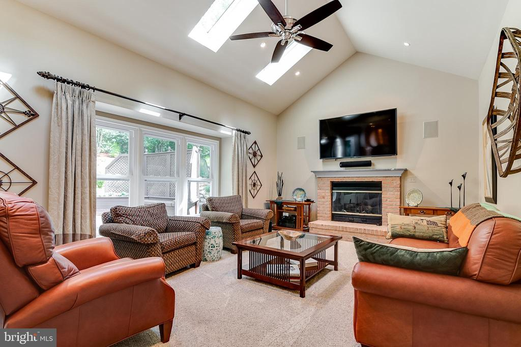 Family Room with gas fireplace - 19909 HAMIL CIR, MONTGOMERY VILLAGE