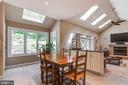 Breakfast room with skylight - 19909 HAMIL CIR, MONTGOMERY VILLAGE