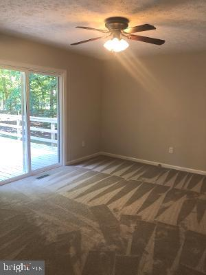Primary Bedroom with view of deck - 315 LIMESTONE LN, LOCUST GROVE