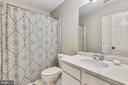 Updated hall bath with new counter, faucet & light - 502 TWINTREE TER NE, LEESBURG