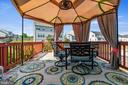 Deck off of the kitchen with Gazebo - 97 SANCTUARY LN, STAFFORD