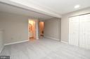 Lower level rec room or 4th bedroom - 9530 BUTTONBUSH CT, MANASSAS