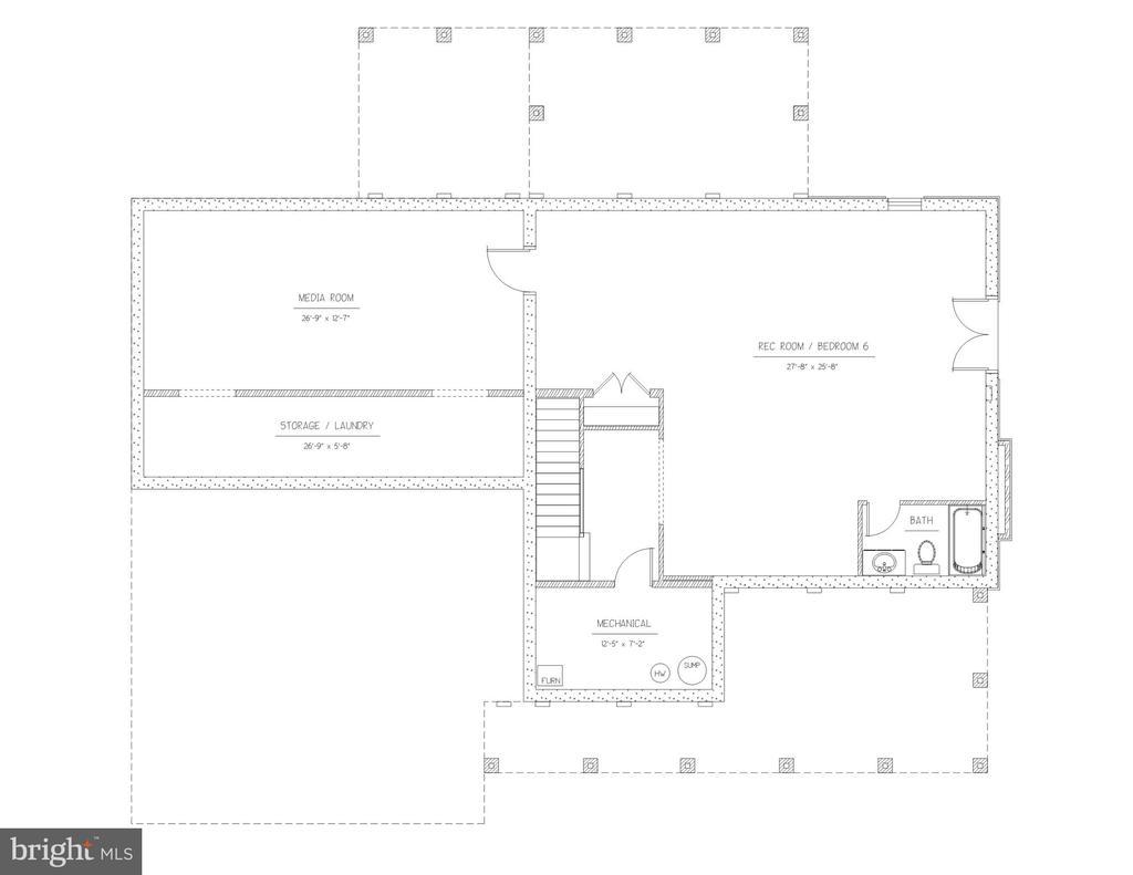 Spacious rec-room and media room - 3908 WOODLEY DR, ALEXANDRIA