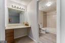 Private entry into the full bath - 3594 WHARF LN, TRIANGLE